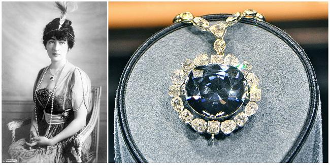 Жена Маклина с алмазом Хоупа
