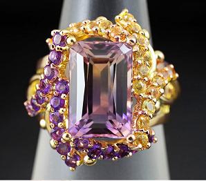 Перстень с аметрином