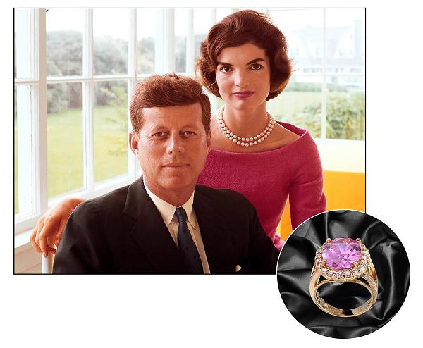 Кеннеди, кольцо с кунцитом