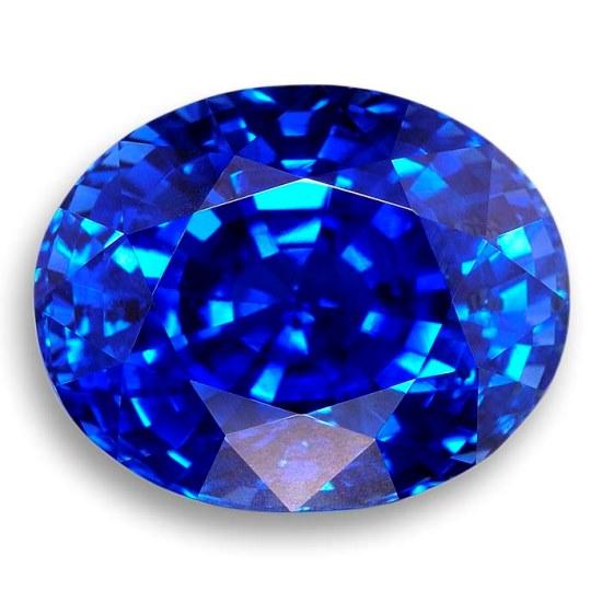 Сапфир синего цвета