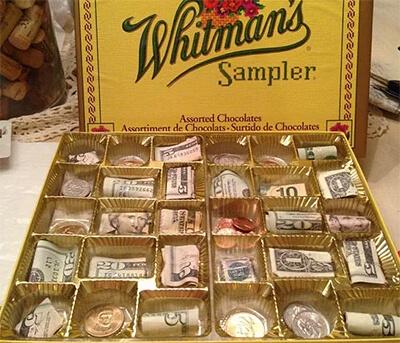 Коробка конфет с деньгами