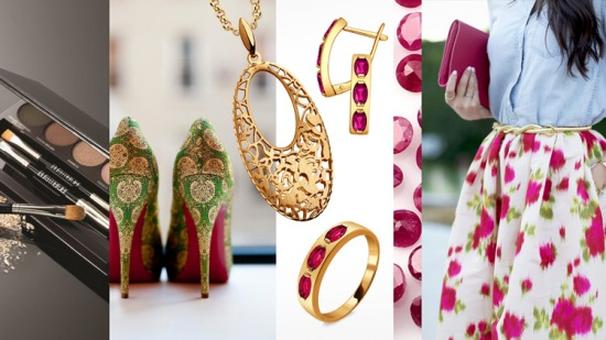 Рубиновые украшения