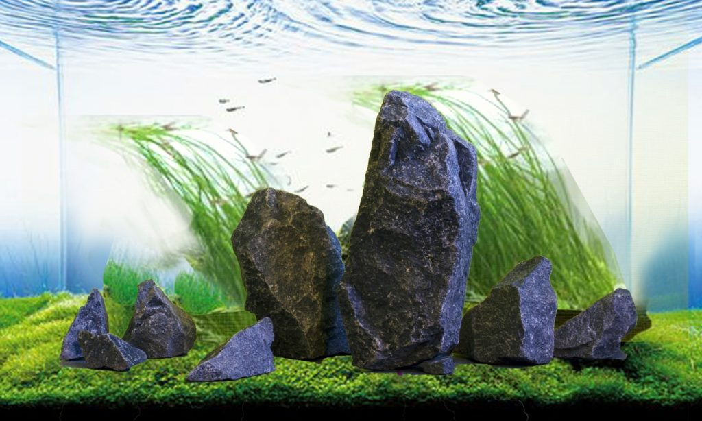 Диабаз в аквариуме