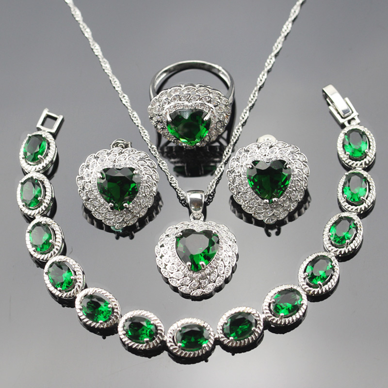 украшение с зеленым цирконом