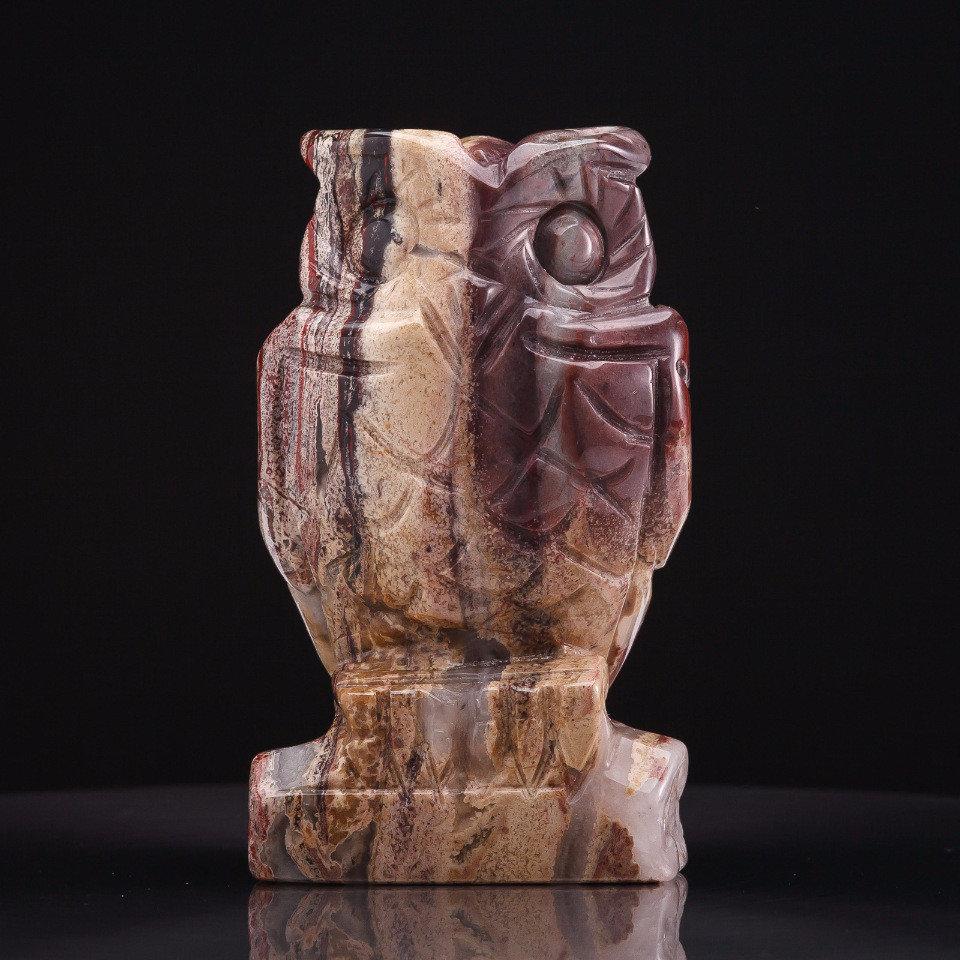 Статуэтка Сова из яшмы