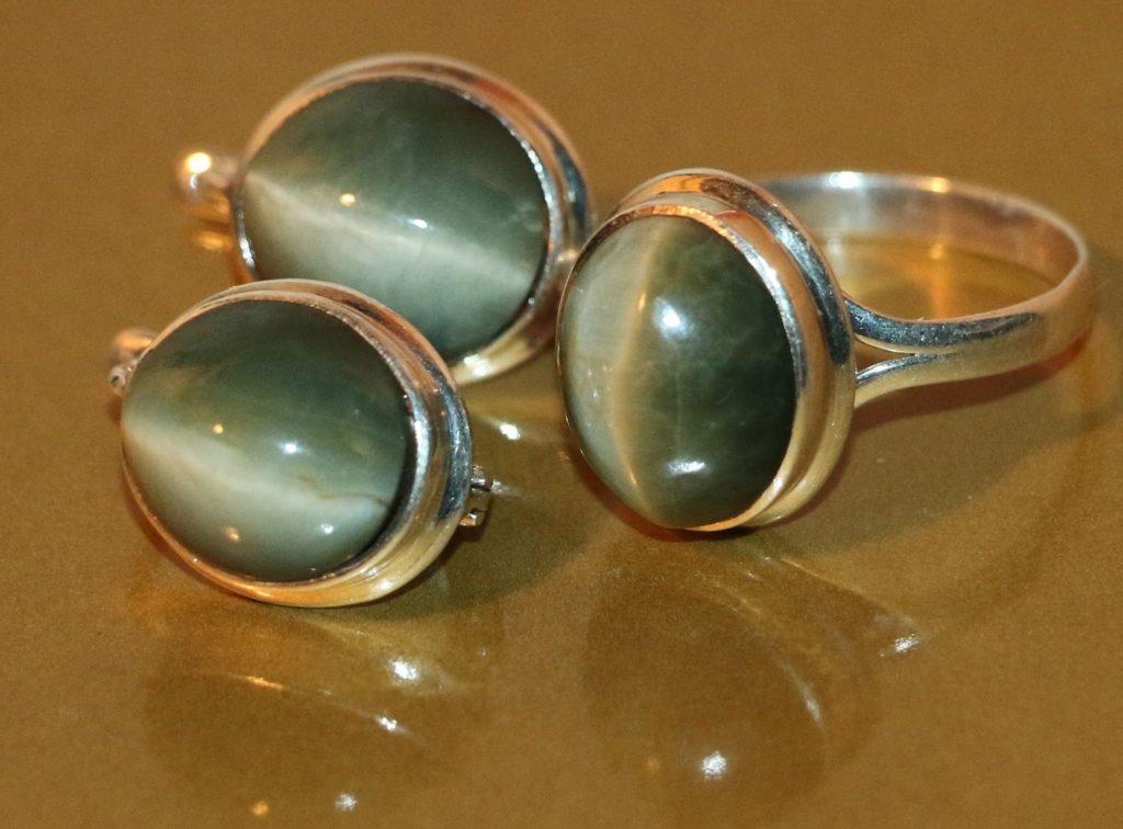 кольца из хризоберилла